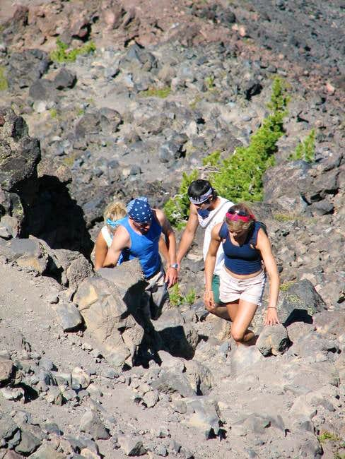 Broken Top ridge above...