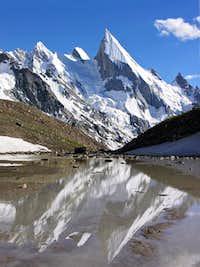 Laila Peak from Xhuspang Camp