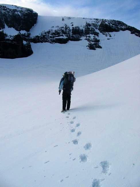 Crossing the glacier of...