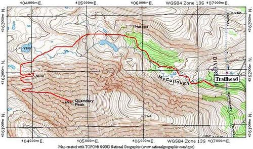 This TOPO shows the Northwest...