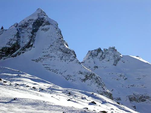 NW ridge of Becca di Monciair...