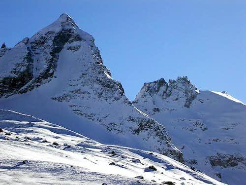 NW ridge of Becca di Monciair...
