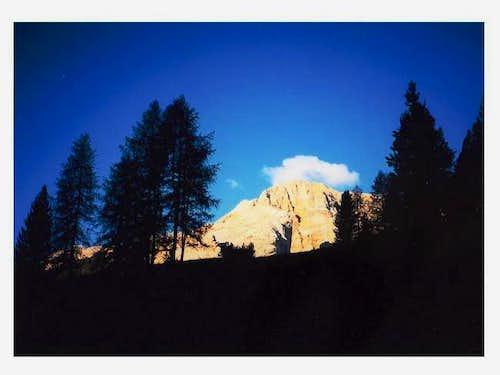 Croda Rossa at sunrise seen...