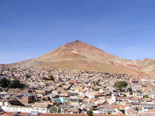 View of Cerro Rico and the...