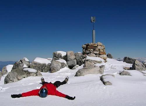 This intrepid alpinist has...