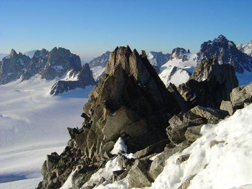 Ridge of Aiguille du Tour and...