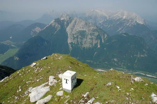 Arnspitze seen from the...