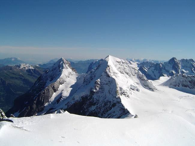 Mönch and Eiger seen from...