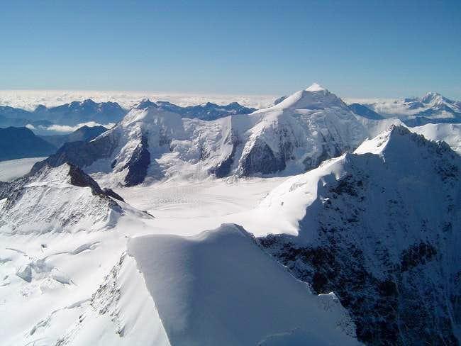 Aletschhorn seen from summit...