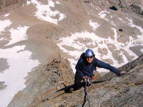 Misha climbing the Swiss...