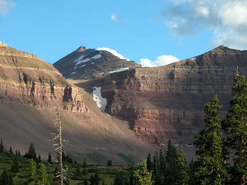 King's Peak and rock slide