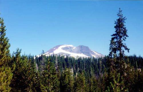 South Sister from Devils Lake...