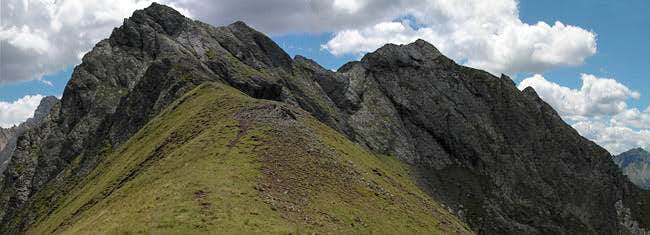 Croda Nera (2605m) and Sasso...