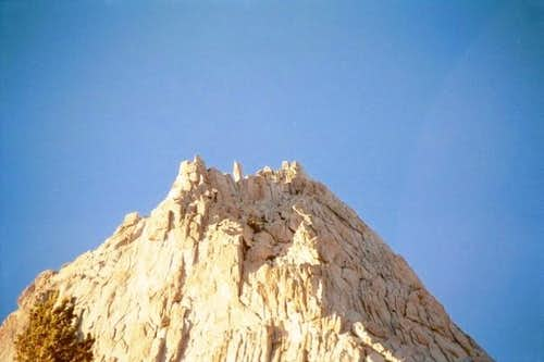 The summit of Cathedral Peak,...