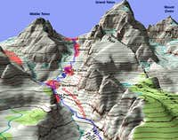 Garnet Canyon Map