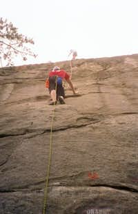 Doug Harms (lower climber)...