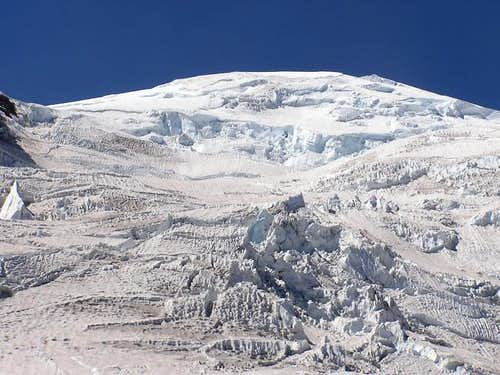 Ingraham icefall from the...