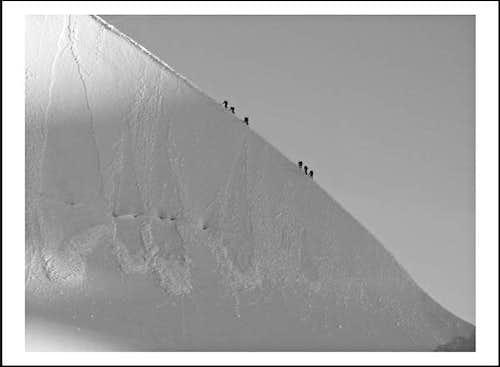 Lyskamm ridge (14 August 2005)