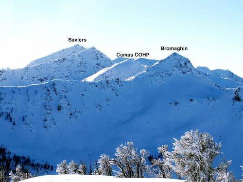 Saviers Peak, Bromaghin Peak,...
