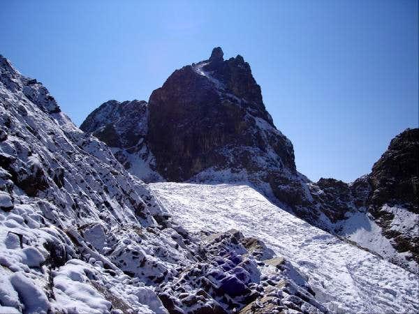 San Andres's west glacier