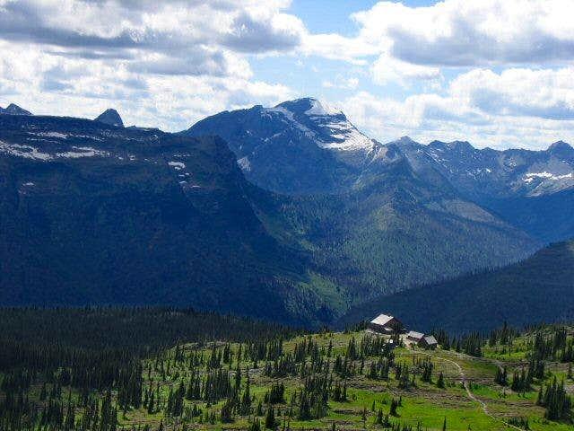 Longfellow Peak, Granite Park Chalet
