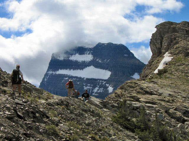 At the Grinnell Glacier Overlook, above the...