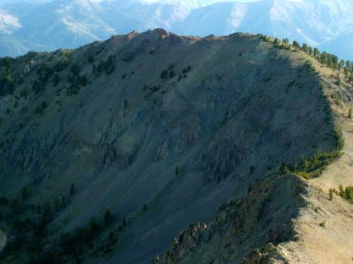 Titus Peak\'s rugged west face...
