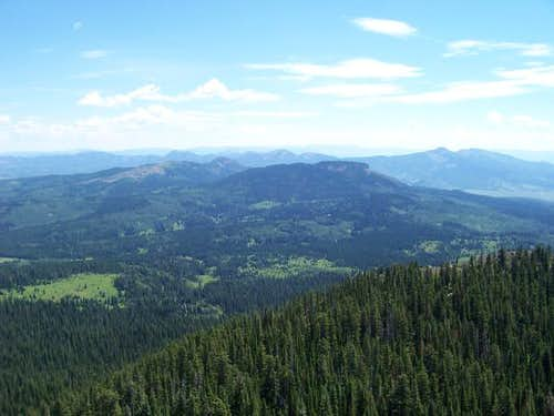 View east from the summit....