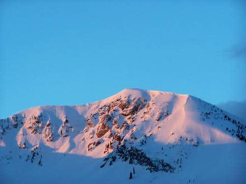 North aspect of Mt. Baldy...
