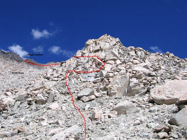 Here is the southeast ridge...