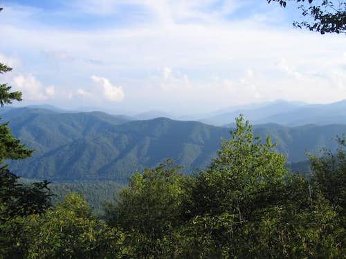 View from Mt Kephart 8/19/2005