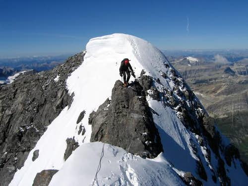 Here's the summit ridge walk...