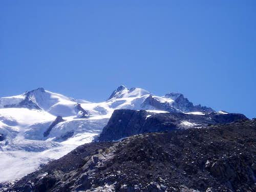 Nordend and Dufourspitze....