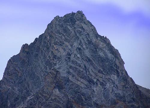 The north face of the summit...