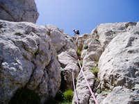 Climbing Alpina. July 2005
