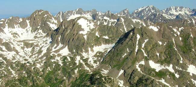 The rugged peaks of the South...