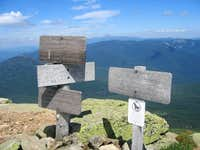 Signpost on the summit of...