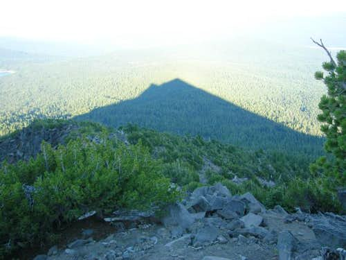 Sunset Shadow cast from Mount...