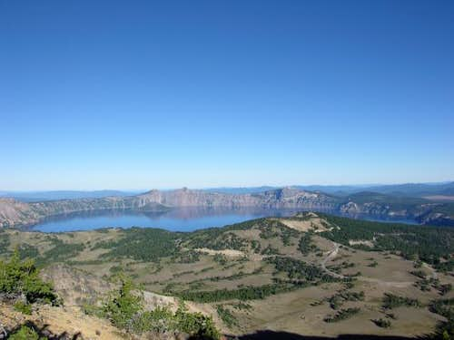 Crater Lake as seen from the...