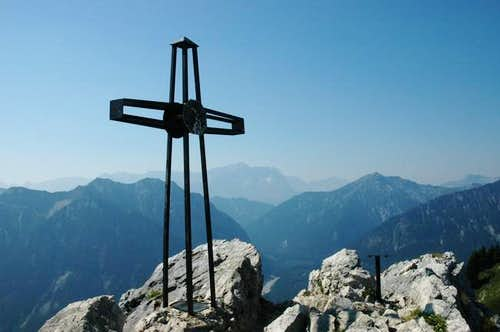 Cross at the peak of...