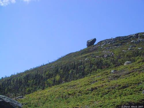 the Glen Boulder from below....