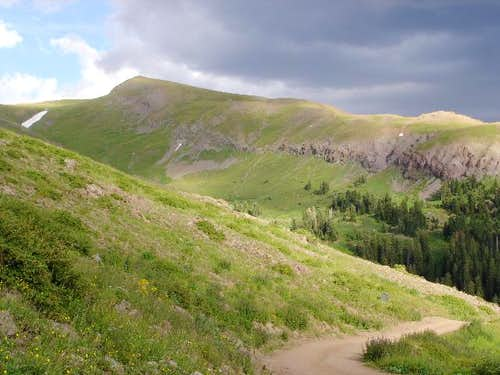 The west ridge leading to...