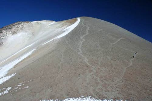 View towards the summit. Zig...