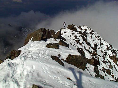 On the summit ridge (west) of...
