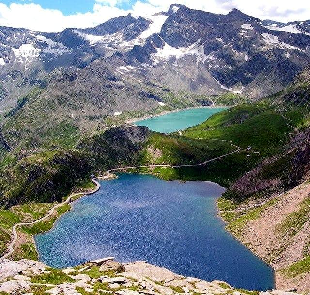 Serru' and Agnel lakes. The...