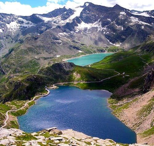 Serru' and Agnel lakes. The...