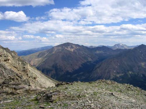 Mt. Elbert from Mt. Massive`s...