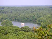 View of lake from old quarry...