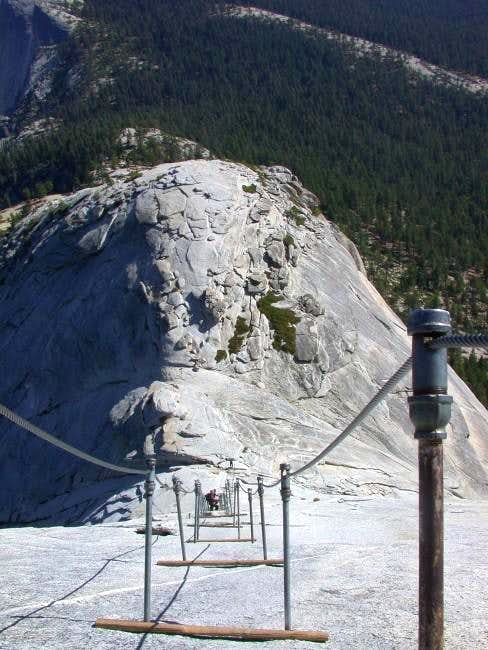 Half Dome - Cables on the way...
