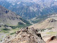 On the faint arete in the...
